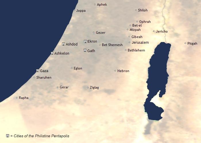 filiszteusok városai