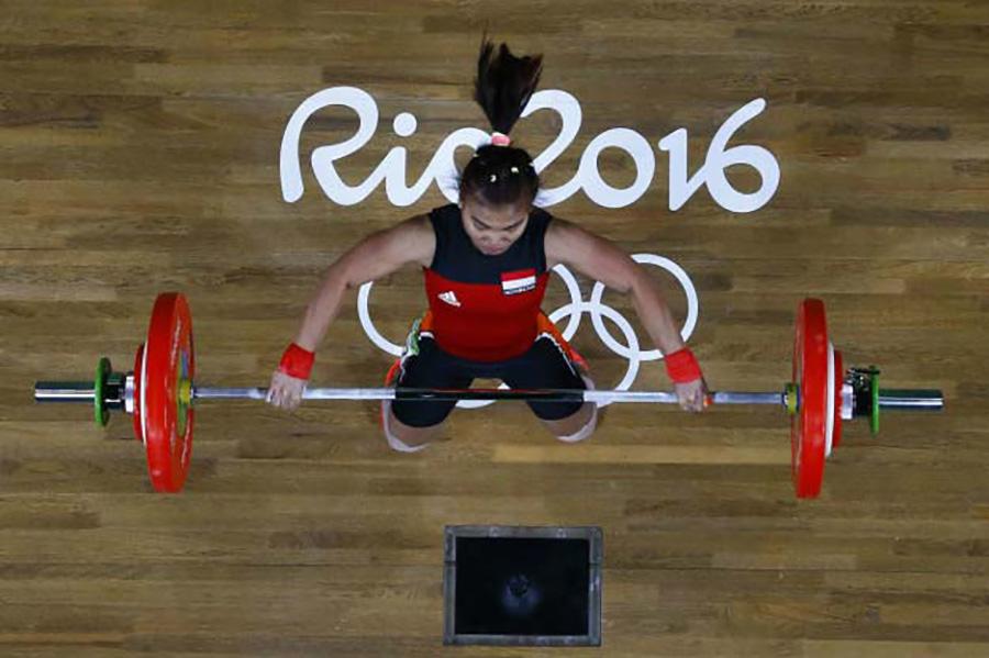 Sri Wahyuni Agustiani, Indonézia, súlyemelés, ezüst.  A 48 kilósok súlycsoportjában állt a dobogó második fokára a 22 éves sportolónő.