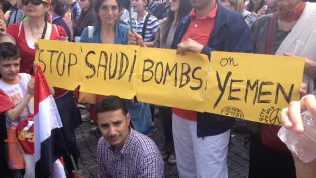 jemen tüntetés szaúdi bombázás ellen