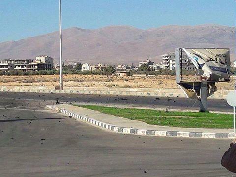 A robbantás helyszíne Damaszkuszban