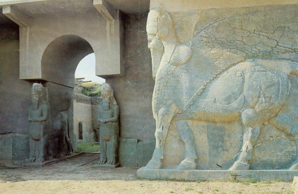 nimrud-szarnyasbika-szobor