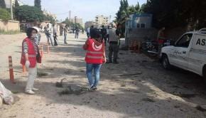 robbantás szíria