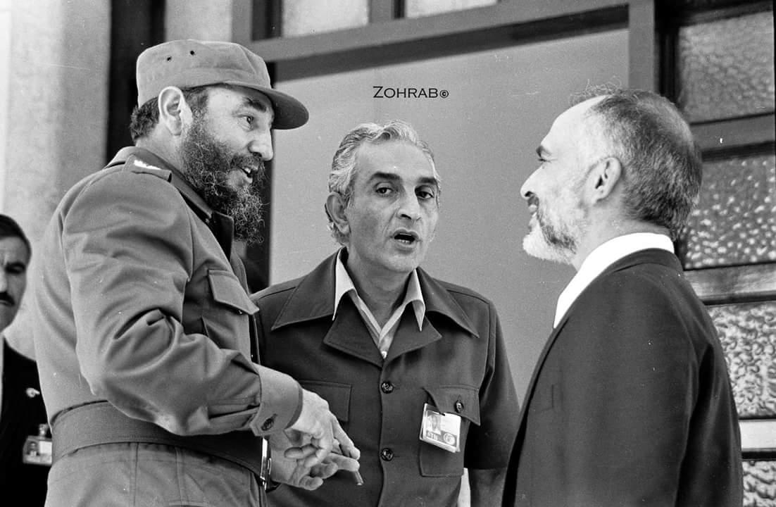 Castro és Hussein egykori jordán király