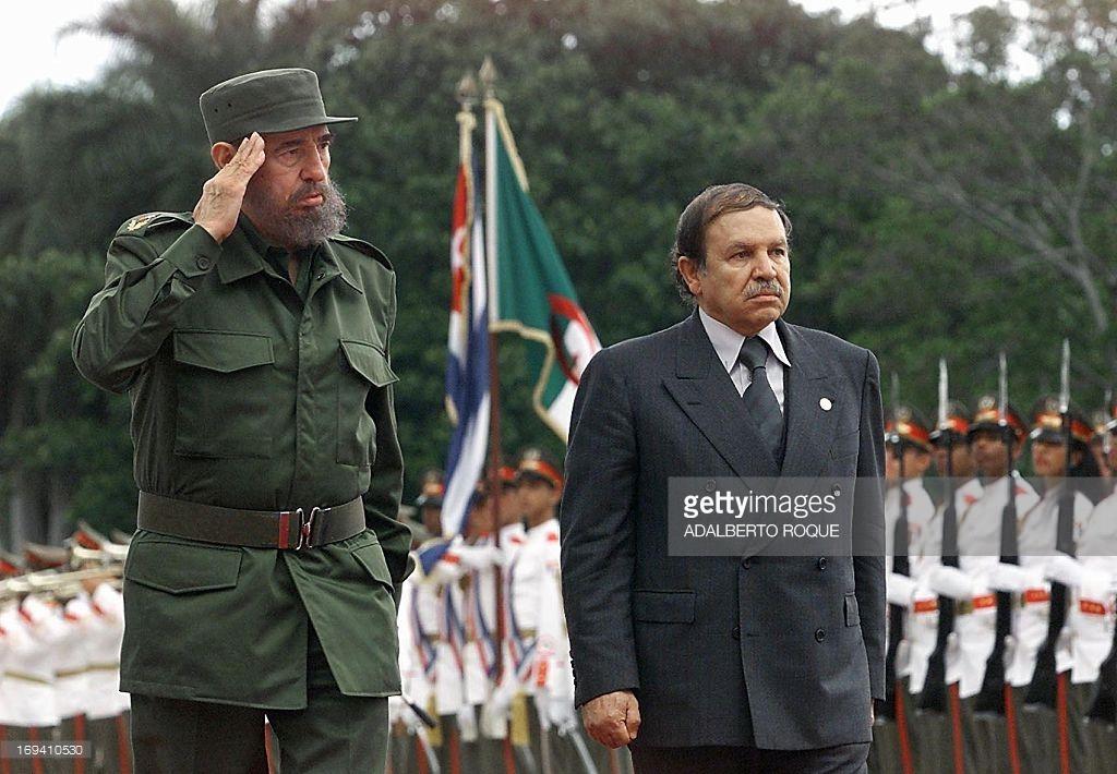 Abdel Aziz Bouteflika és Castro