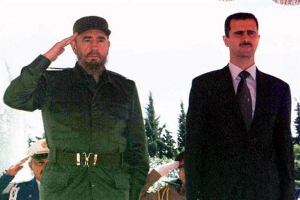 Fidel Castro és Bashar Al-Assad szíriai elnök