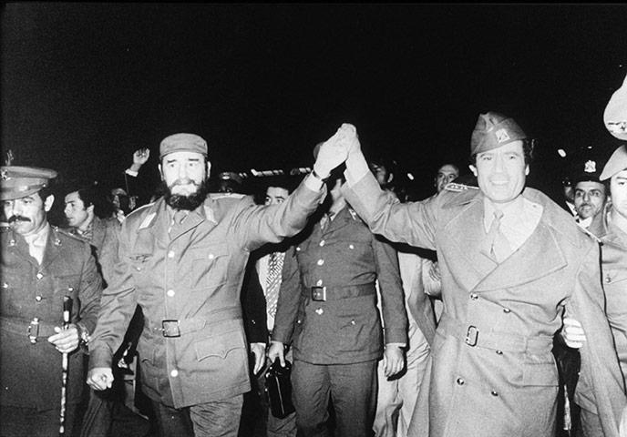 Castro Kadafinál járt Líbiában