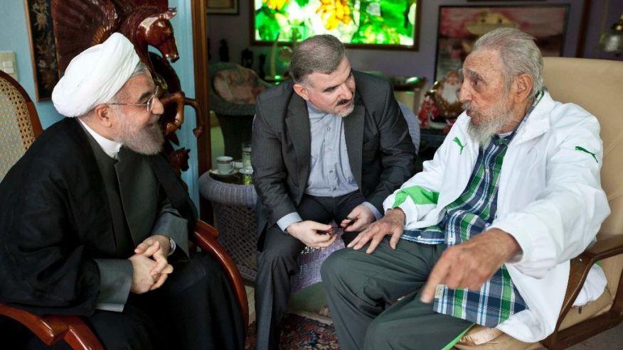 Hassan Rouhani látogatása Fidel Castronál