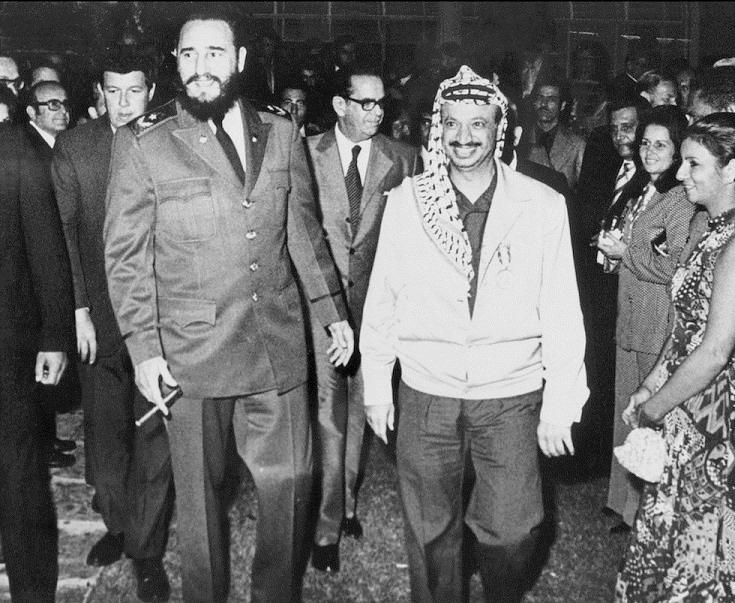 1974-ben Kubába látogatott JAsser Arafat palesztin vezető