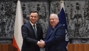 Andrzej Duda Reuven Rivlin lengyel izrael