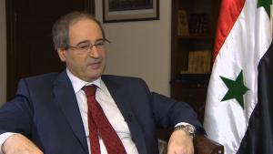 fajsal mekdad szíria külügyminiszter helyettes