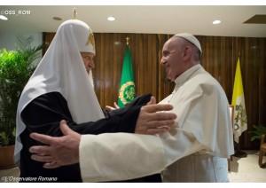ferenc pápa kirill pátriárka