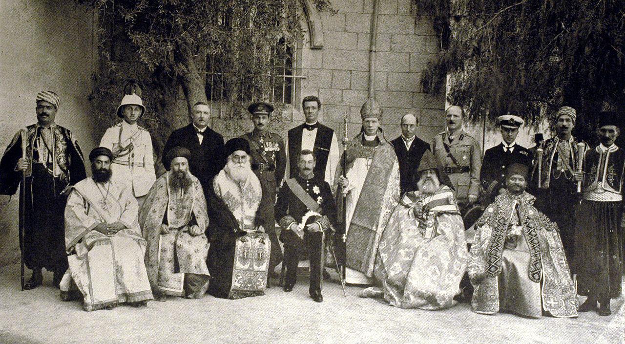 kereszteny-palesztin-egyhazak-vezetoi-jeruzsalem-1922