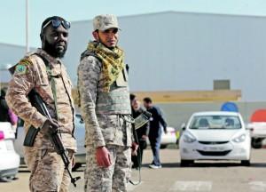 líbia katona
