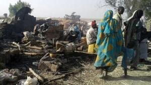 nigéria menekülttábor