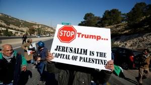 palesztin tüntetés trump ellen