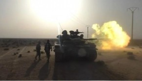 syria army tank palmyra