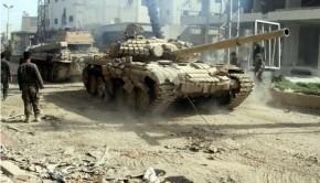 szíria tank army deir ezzor