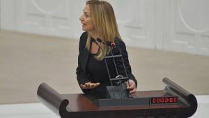 török jogásznő tiltakozik
