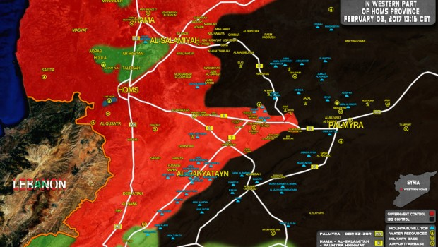 kelet homsz szíria térkép 2017.02.05.