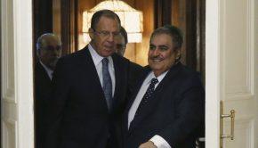 Reuters Maxim Shemetov.Sheikh Khalid bin Ahmed Al Khalifa és Szergej Lavrov.