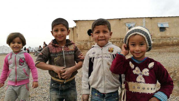 Gyerekek a menekülttáborban Fotó: Ahmad Gharabli / AFP