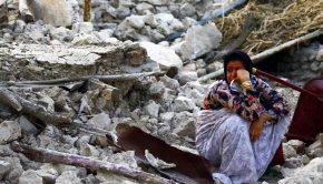 2013. április 9-én a Richter-skála szerinti 6,1-es erősségű földrengés volt Irán déli részén Forrás: MTI/EPA/Fars News Agency/Mohammad Fatemi