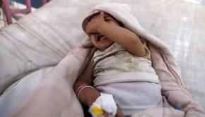 A világ legnagyobb kolerajárványa volt Jemenben Forrás: AFP/Mohammed Huwais